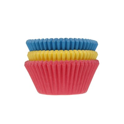 House of Marie Baking Cups Assorti Primary pk/75