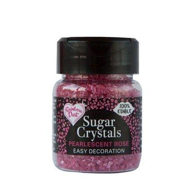 RD Edible Sparkling Sugar Crystals - Pearlescent Rose 50g