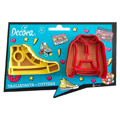 Decora Teenager Plastic Cookie Cutter Set 2