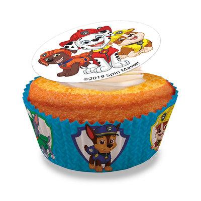 Dekora Paw Patrol Eetbare Cupcake Schildjes Ø 3,4CM 16st