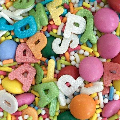 BAKD Chocolade Letters Sprinkles 70g