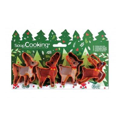 Scrapcooking Cookie Cutter Deers Set/4