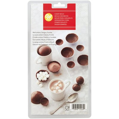 Wilton 3D Hot Chocolate Ball Candy Mould