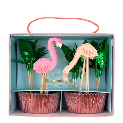 Meri Meri Flamingo Cupcake Kit