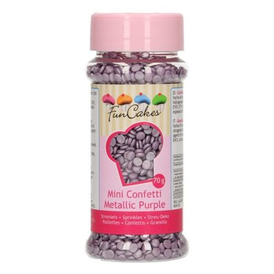 FunCakes Confetti Metallic Purple 70gr