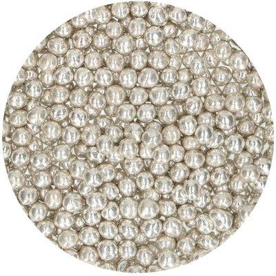 FunCakes Zachte Parels Medium Metallic Zilver 55 g