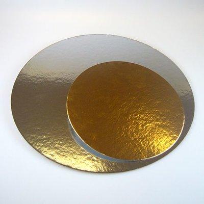FunCakes Taartkartons zilver/goud ROND 26cm, pk/3