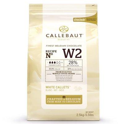 Callebaut Chocolade Callets -Wit- 2,5 kg