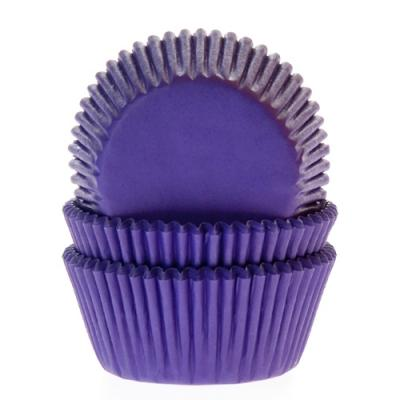 House of Marie Baking Cups Paars Violet - pk/50