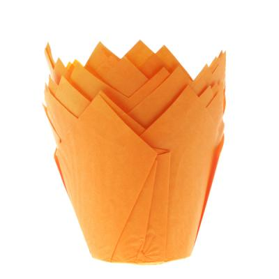 House of Marie Muffin Cups Tulp Oranje pk/36