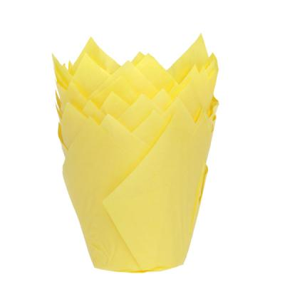 House of Marie Muffin Cups Tulp Geel pk/36