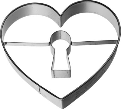 Birkmann Heart with keyhole cookie cutter 7cm