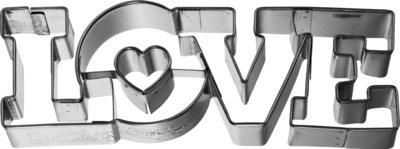 Birkmann Love lettering cookie cutter 11cm
