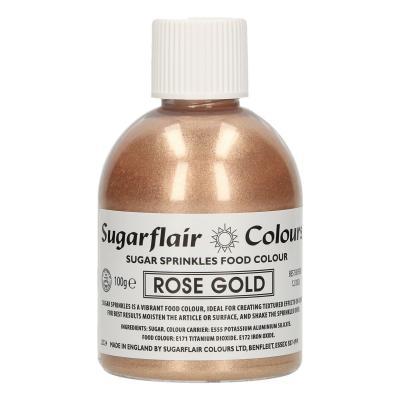 Sugarflair sugar sprinkles Rose Gold 100gr