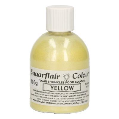 Sugarflair Sugar Sprinkles -Yellow- 100g
