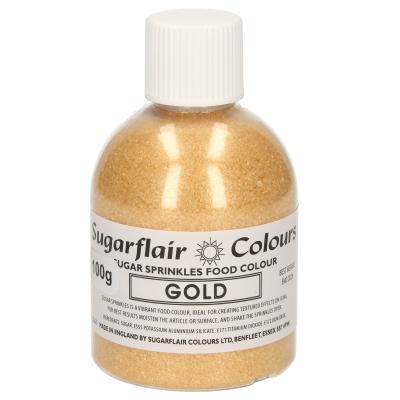 Sugarflair Sugar Sprinkles -Gold- 100g