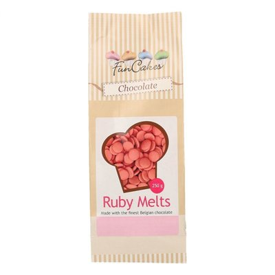 Funcakes Ruby Chocolade melts 250gr