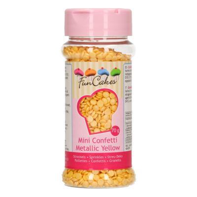Funcakes Confetti Metallic Geel 70gr