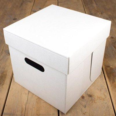 FunCakes Taartdoos -Blanco 25,5x25,5x 25cm- pk/1