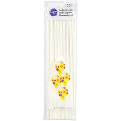 Wilton Lollipop Sticks 30cm, pk/20