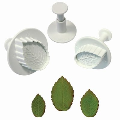 PME Rose leaf plunger cutter set/3