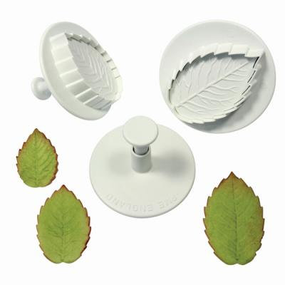 PME Rose leaf plunger cutter set/3 Large size