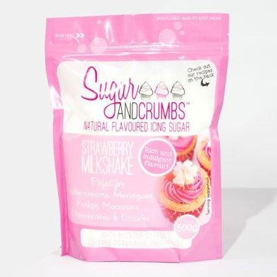 Sugar and Crumbs Icing Sugar -Strawberry Milkshake- 500g