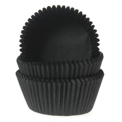 House of Marie Mini Baking Cups Zwart - pk/60