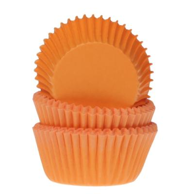 House of Marie Mini Baking Cups Oranje pk/60