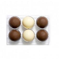 Chocolade Holvorm Halve Bol (6x) Ø 75 mm
