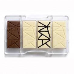 Chocolademal Strepen Tablet (4x) 8,5x4,2 cm