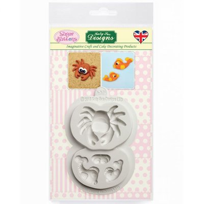 Katy Sue Mould Sugar Buttons - Crab and Fish