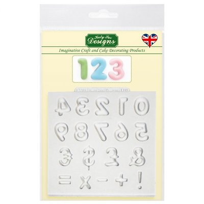 Katy Sue Mould Domed Numbers