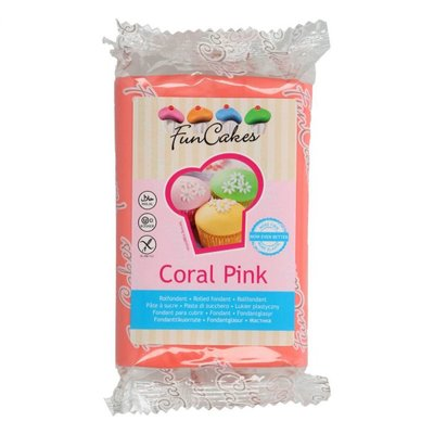 Funcakes Rolfondant Coral Pink -250g