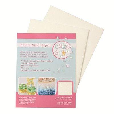 Cake star edible wafer paper white pk/12