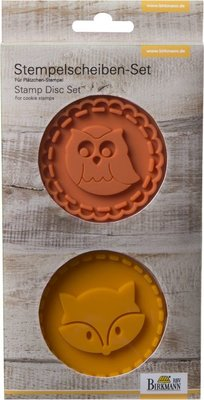 Birkmann Stamp set Owl & Fox 7cm