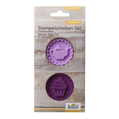 Birkmann Mini Stamp set Cupcake & Teapot 5cm