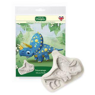 Katy Sue Triceratops silicone mould