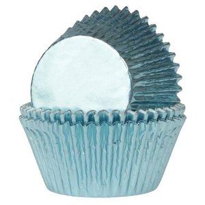 House of Marie Mini Baking Cups Folie Baby Blauw pk/36