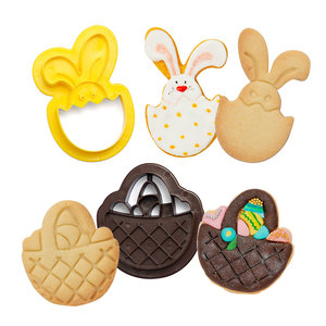Decora Plastic Cookie Cutters Basket And Bunny Set/2