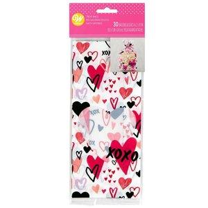 Wilton Treat Bags Traditional Valentine pk/30
