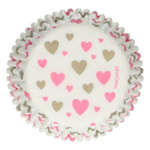 FunCakes Baking Cups -Hearts- pk/48