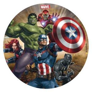 Dekora Marvel Avengers Superhelden Taartprint Ø 16cm