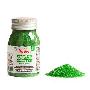 Decora Glittered Sugar Green 100g