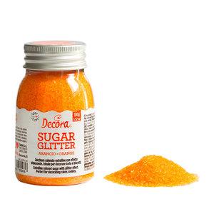 Decora Glittered Sugar Orange 100g