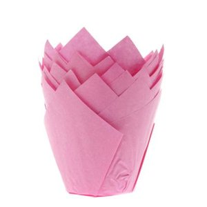 House of Marie Muffin Cups Tulp Roze pk/36
