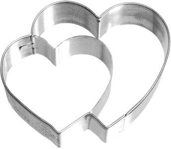 Birkmann Double Heart cookie cutter 6,5cm