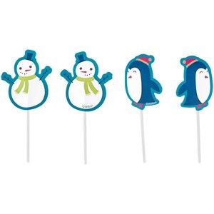 Wilton Fun Pix Snowman & Penguin pk/12
